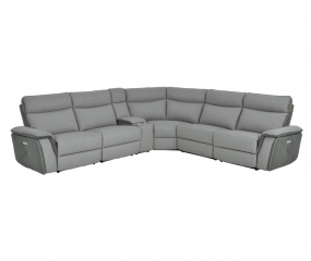 Six Piece Modular Power Reclining Sectional by Homelegance