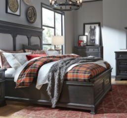 Townsend Upholstered Storage Platform Bed by Legacy Classic