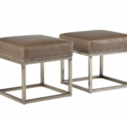 Andre Metal Footstool by Jonathan Louis