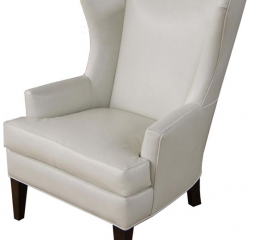 Rossdale Leather Wing Chair by Jonathan Louis
