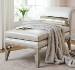 Glitz & Glam Chaise w/ Bolster Pillow by Legacy Classic Kids