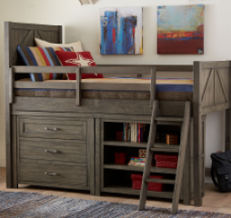 Bunkhouse Mid Loft Bed With Components by Legacy Classic Kids