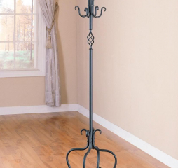 Transitional Sandy Black Coat Rack w/ 8 Flared Hooks by Coaster