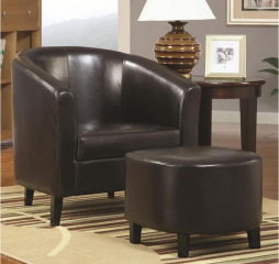 Transitional Vintage Accent Chair and Ottoman by Coaster