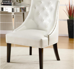 Casual White Accent Lounge Chair by Coaster