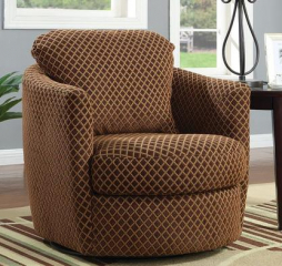 Casual Brown Accent Chair by Coaster