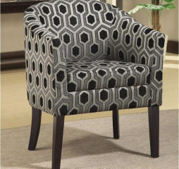 Charlotte Hexagon Print Accent Chair by Coaster
