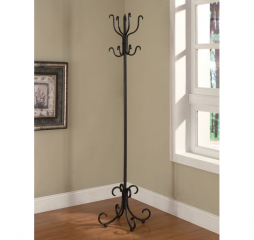 Traditional Black Coat Rack w/ Curved Feet by Coaster