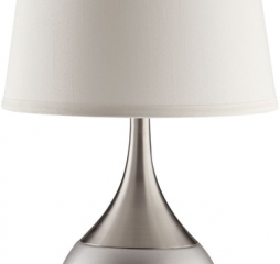 Silver and Chrome Empire Shade Table Lamp by Coaster