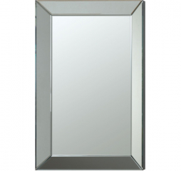 Transitional Rectangular Silver Beveled Wall Accent Mirror by Coaster