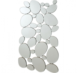 Silver Pebble Shaped Decorative Mirror by Coaster