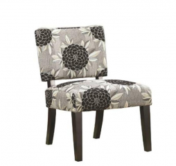 Casual White Gray and Black Accent Chair by Coaster