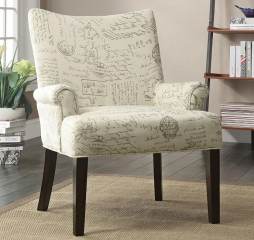 Casual Off-White Accent Chair by Coaster
