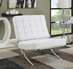 Barcelona Inspired Chrome Accent Chair by Coaster
