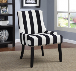 Transitional Navy and White Accent Chair by Coaster