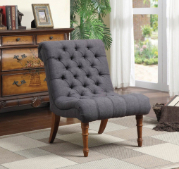 Casual Traditional Slipper Accent Chair by Coaster