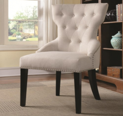 Casual Cream Accent Chair by Coaster
