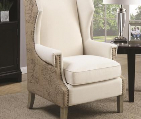 Traditional Cream Accent Chair by Coaster