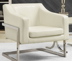 Contemporary Chrome Accent Chair by Coaster