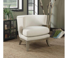 Contemporary Transitional Exposed Wood Accent Chair by Coaster