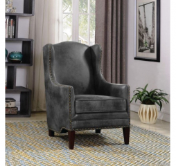 Traditional Gray and Cappuccino Accent Chair by Coaster