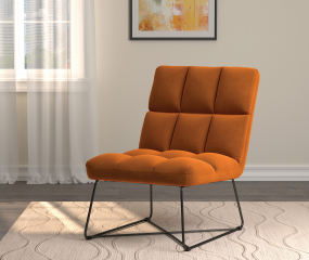 Upholstered Armless Accent Chair by Coaster