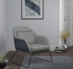 Gray and Blue Metal Sled Leg Accent Chair by Coaster