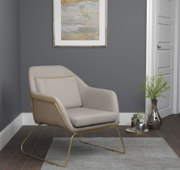 Beige Metal Sled Legged Accent Chair by Coaster