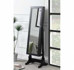 Black Transitional Jewelry Cheval Mirror by Coaster