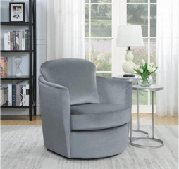 Casual Gray Swivel Accent Chair by Coaster