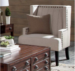 Traditional Light Beige Accent Chair by Coaster