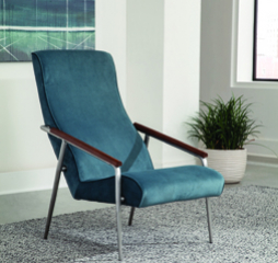 Seanna Wooden Arm High Back Teal Accent Chair by Coaster