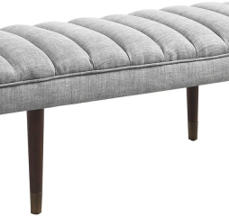 Gray and Espresso Upholstered Bench by Coaster