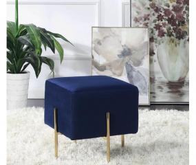 Faux Sheepskin Velvet Upholstered Square Ottoman by Coaster