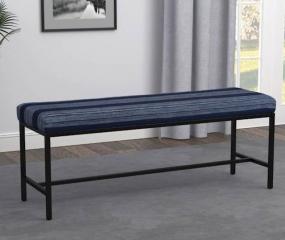 Gunmetal Striped Bench by Coaster
