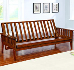 Traditional Dirty Oak Futon Frame by Coaster