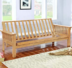 Casual Weathered Oak Futon Frame by Coaster