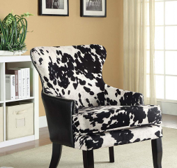 Traditional Black and White Accent Chair by Coaster