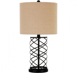Transitional Bronze Twisted Base Table Lamp by Coaster