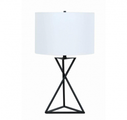 Black and White Drum Table Lamp by Coaster