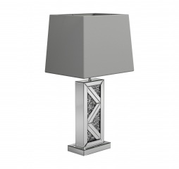 Silver Geometric Base Table Lamp by Coaster