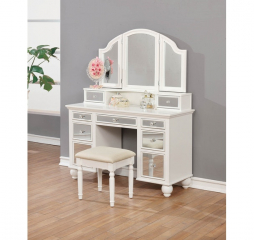 Transitional Beige and White 2 Piece Vanity Set by Coaster