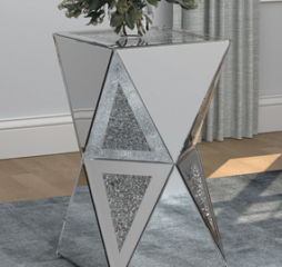 Silver Geometric Side Table by Coaster