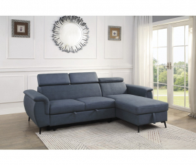 Cadence Two Piece Reversible Sectional Sleeper by Homelegance