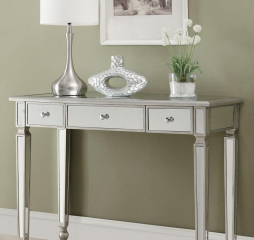Antique Silver Three Drawer Console Table by Coaster
