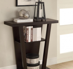 Cappuccino Two Shelf Console Table by Coaster