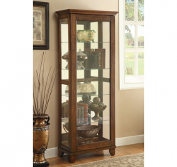 Clear Five Shelf Curio Cabinet by Coaster