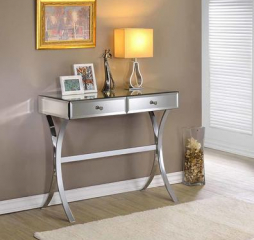 Clear Mirror Two Drawer Console Table by Coaster