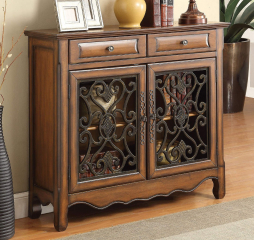 Brown Two Door Display Cabinet by Coaster