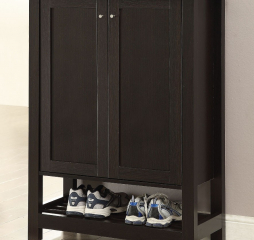 Cappuccino Two Drawer Rectangular Shoe Cabinet by Coaster